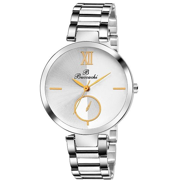 Buccachi Analogue White Round Dial Watch
