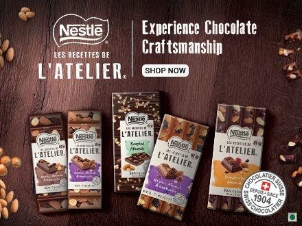 """Nestlé LES RECETTES DE """"l atelier Chocolates @ 50% off"""