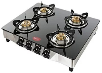 Pigeon Blaze Glass 4 Burner Gas cooktop at Rs. 3399