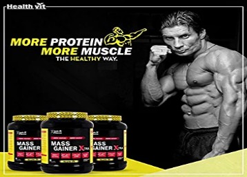 Healthvit Mass Gainer  with Carbs and Proteins - 2 kg Rs. 1300