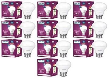 Philips 8.5-Watt B22 LED Bulb (Pack of 10) Rs.849
