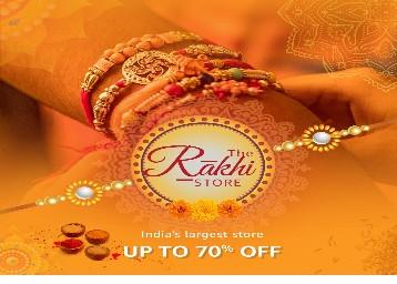 Rakhi, gifts hampers and gifts upto 70% off at rakhi stores