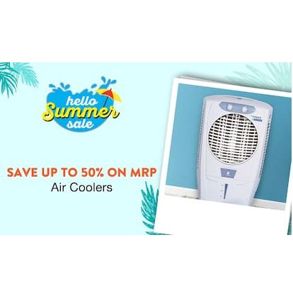 Buy Branded Air Coolers & Get 50% Cashback
