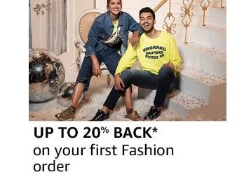 Get 20% Cashback On Your 1st Fashion Order @ Amazon
