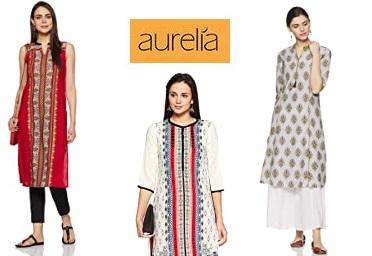 Aurelia Women Kurtis Min. 70% OFF From Rs. 234