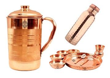 Amazon - Indian Art Villa Copper Bottles, Jugs Min 70% off