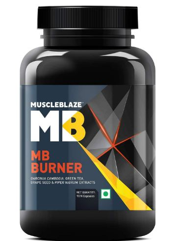 MuscleBlaze MB Burner - 90 capsules(Unflavoured) @ Rs. 408