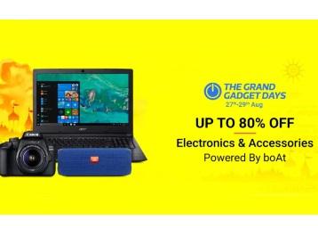 Flipkart - The Grand Gadgets Days Upto 80% OFF