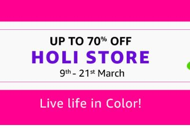 Upto 70% OFF on Holi Colors, Pichkari, Water balloon and more