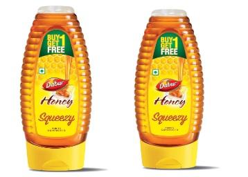 Dabur 100% Pure Honey Pack 400g ( Buy 1 Get 1 Free) at Rs. 176
