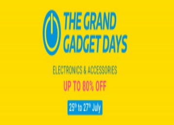 The Grand Gadget Days Upto 80% off + Flat 5% off with HDFC Bank
