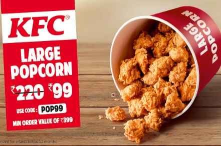 KFC Large Popcorn at just Rs. 99