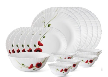 Borosil Opalware Dinner Set,19-Pieces at just Rs. 1311