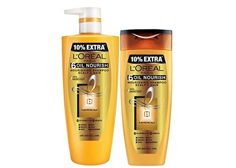 Flat 40% off : Loreal Paris Shampoo Combo pack of 2 @ 429