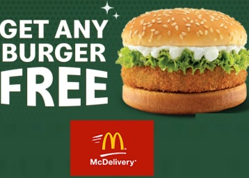 McDonalds- Get Any Burger FREE on Order above Rs. 399