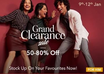 Myntra Grand Clearance Sale : Min. 50% -80% OFF