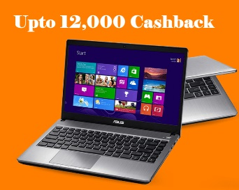 PaytmMall Laptop Fest - Upto 12000 Cashback on Laptops