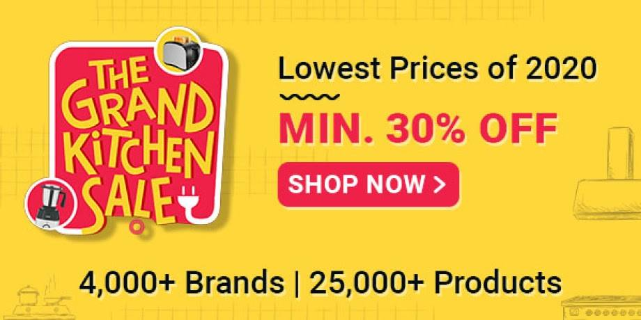 The Grand Kitchen Sale | Minimum 30% Off plus 10% Extra With icici cards