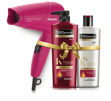 TRESemme Keratin + Philips hair dyer upto 40% off