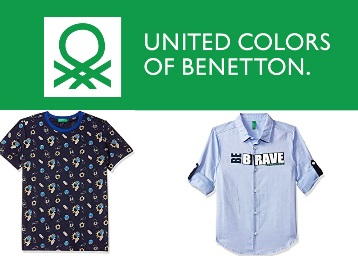 Min. 75% off United Colors Of Benetton Clothing From Rs. 180